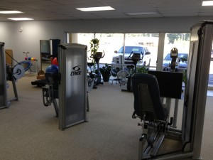 exercise machine portion of the main floor
