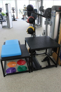 plyometric training area